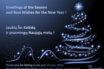 Jaukių Šv. Kalėdų ir sėkmę nešančių 2017 Naujųjų metų!
